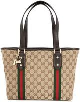 Gucci Pre Owned Shelly GG supreme tote