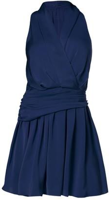 Ramy Brook Shellie Faux-Wrap Mini Dress