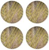 Thirstystone 4-Pc. Wood Coaster Set with Gold-Tone Arrow Patterns