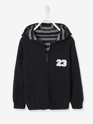Vertbaudet Boys' Reversible Knitted Cardigan