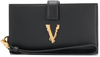 Versace Logo Plaque Wallet