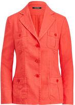 Ralph Lauren Petite Linen 3-Button Blazer