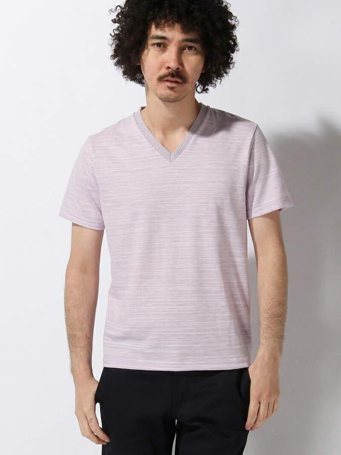 Men's Bigi (メンズ ビギ) - MEN'S BIGI Vネック半袖Tシャツ/スラブ天竺 メンズ ビギ カットソー