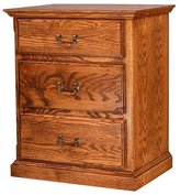 Forest Designs Traditional Oak Three Drawer Nightstand: