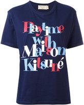MAISON KITSUNÉ 'playtime' print T-shirt - women - Cotton - L