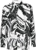 Issey Miyake Collabo paint print shirt - men - Cotton - 1
