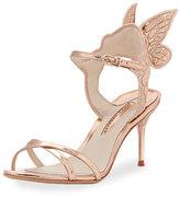 Sophia Webster Metallic Leather Butterfly-Wing Sandal, Pink