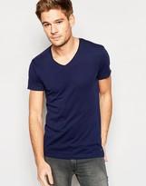 Esprit Scoop Neck T-Shirt with Raw Edge