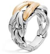 John Hardy Sterling Silver & 18K Gold Woven Ring