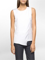 Calvin Klein Pleated Drape Sleeveless Top