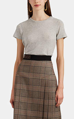 Barneys New York Women's Stockinette-Stitched Cashmere-Cotton Top - Light Gray