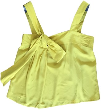 Semi-Couture Semicouture Yellow Silk Top for Women