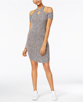 Almost Famous Juniors' Ribbed Cold-Shoulder Dress