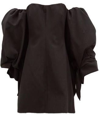 Ellery Smoky Detachable-sleeve Cotton-blend Mini Dress - Black