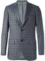 Brioni check print blazer