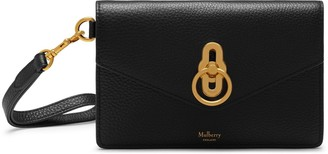 Mulberry Amberley Phone Clutch Black Small Classic Grain
