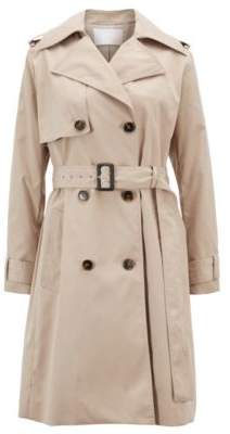 BOSS Double-breasted trench coat with oversized lapels