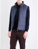 Canali Houndstooth wool gilet