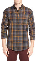 Ben Sherman Plaid Regular Fit Sport Shirt