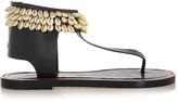 Isabel Marant Jean shell-embellished leather sandals