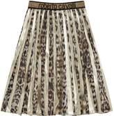 Roberto Cavalli Leopard Print Maxi Skirt, Beige, 6 Years