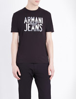 Armani Jeans Eagle-logo cotton-jersey t-shirt