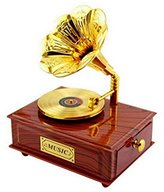 Acme Vintage Gramophone Classical Movement Music Box - Brown