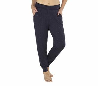 Love To Sleep Nightwear Love to Sleep Women's Luxurious Glitter Pyjamas Loungewear Sleepwear Soft Viscose Top T-Shirt Trousers - Trousers - Size 16