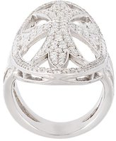 Loree Rodkin oval gothic cigar bank diamond ring