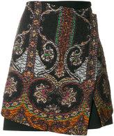 Etro printed matelassé skirt
