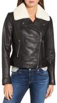 MICHAEL Michael Kors Women's Genuine Shearling Moto Jacket
