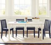 Pottery Barn Kids Carolina Craft Table & 4 Chairs Set, Simply White Table, 4 Simply White Chairs