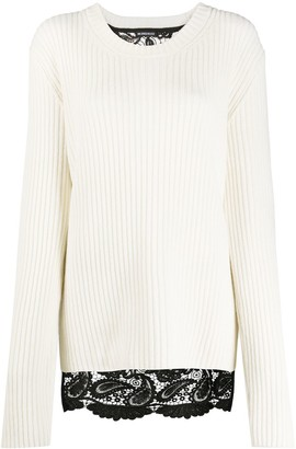 Ann Demeulemeester Lace-Back Ribbed Sweater