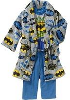 AME Sleepwear BATMAN Boy's Size Fleece Bathrobe, Robe and Pajama Set