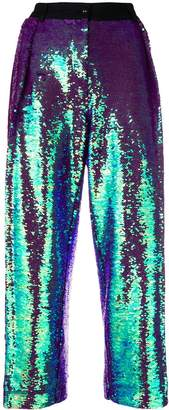 Peter Jensen pleated sequin trousers