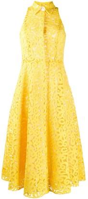 Erika Cavallini Embroidered Lace Flared Dress