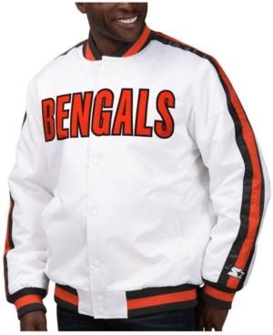 Starter Men's Cincinnati Bengals The D-Line Starter Satin Jacket
