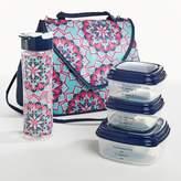 Fit & Fresh Winona Lunch Kit - Pink & Aqua Bloom Tile