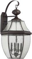 Quoizel Newbury Wall Lanterns with Seedy Glass Shades