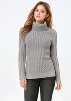 Bebe Chunky Cable Sweater
