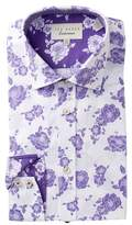 Ted Baker Floral Print Trim Fit Dress Shirt