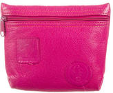 Carlos Falchi Pebbled Leather Clutch