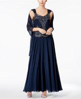 J Kara Sequined A-Line Gown