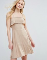 Daisy Street Ruffle Top Fit And Flare Dress