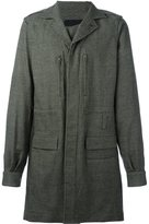 Haider Ackermann single breasted coat - men - Cotton/Virgin Wool - XS