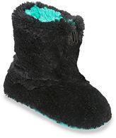Dearfoams Women's Zippered Fuzzy Bootie Slippers