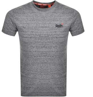 Superdry Orange Label Logo T Shirt Grey
