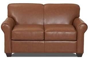 Wayfair Custom Upholstery Wayfair Custom UpholsteryTM Jennifer Leather Loveseat Body Fabric: Durango Acorn
