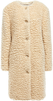 Mansur Gavriel Cashmere And Silk-blend Faux Shearling Coat