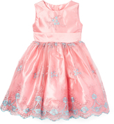 Teal & Pink Floral Dress - Toddler & Girls